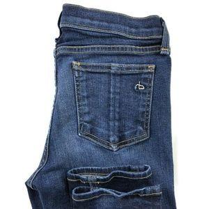 Rag & Bone Skinny Dark Wash Jeans